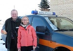 Savanorė Vaida Ilginytė ir Druskininkų urėdijos inžinierius Audrius Norkūnas.