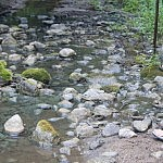 Tam tikrose vietose šalnių vanduo nudažė akmenis smaragdine spalva. Autorė D. Selickaitė