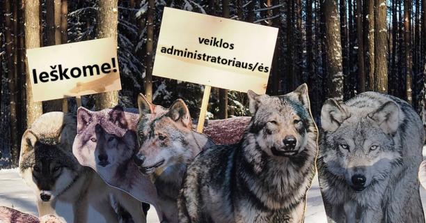 """Gamtos apsaugos asociacija """"Baltijos vilkas"""" ieško veiklos administratoriaus/ės"""