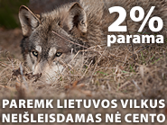 Paremk Lietuvos žinduolius, skirdamas 2 procentus!