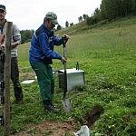 9. Akumuliatoriaus dėžė įkasta į žemę